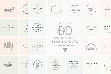 80 Type Layouts Text Based Logos by Maggie Molloy in Logos