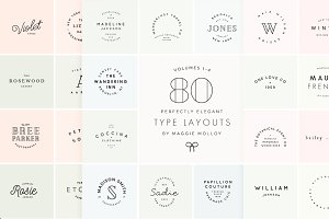 80 Type Layouts Text Based Logos
