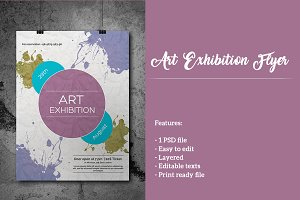 Art Exhibition Flyer or Leaflet