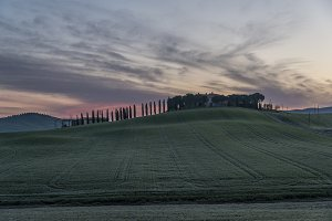 Just before the Sunrise in Tuscany