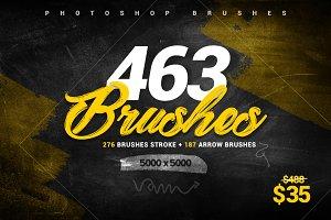 463 Stroke Brushes + Arrow Brushes