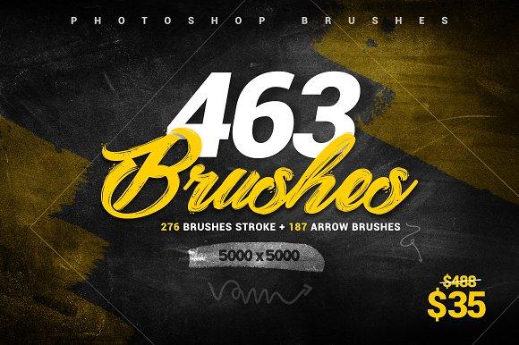 463 Stroke Brushes Arrow Brushes