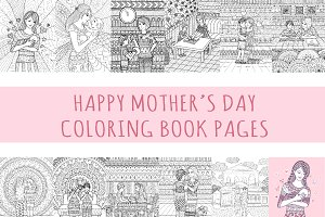 11 Mother's day coloring book page