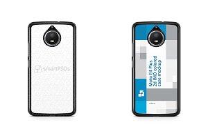 Moto E4 Plus 2d Colored Case Mockup