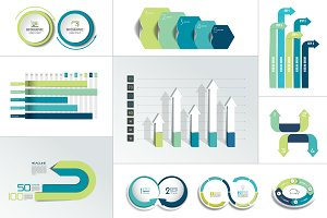 Infographic element. Big set. Vector
