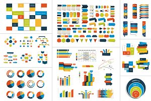 Mega set of Infographic element.