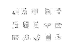 15 Tablet Pill Medicine Icons