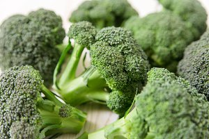 Broccoli background.Close-up view