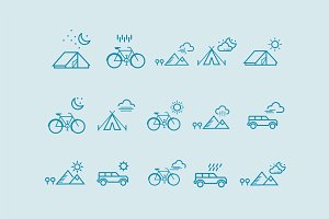 15 Weather Scene Icons