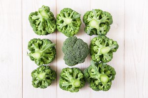 Broccoli background.Creative style.