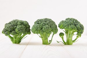 Broccoli on the light background