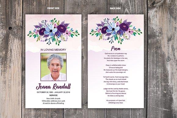 Funeral Prayer Card Template Card Templates Creative Market