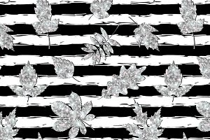 Silver leaves pattern
