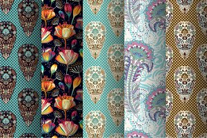 5 Floral Ethnic Patterns