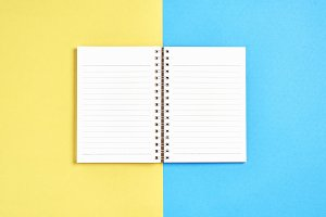 Blank screen notebook blank