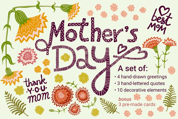 Illustrations and Illustration Products: Chickfish - Mother's Day Card Kit