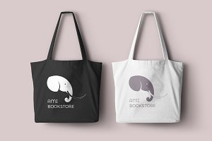 Ami bookstore logo template