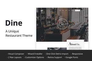 Dine - A Unique Restaurant Theme