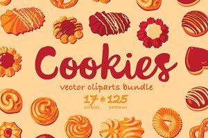 Cookies Vector cliparts bundle