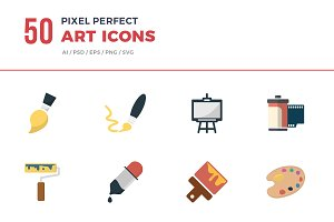 Flat Icons Art Set