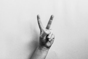 Vintage Look Peace Sign