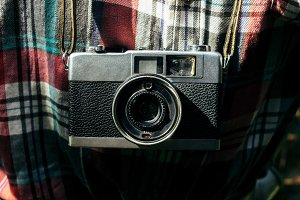 stylish analog photo camera