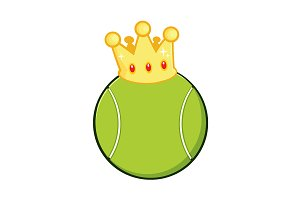 Tennis Ball With A Golden Crown