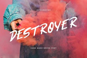 Destroyer — Brush Font