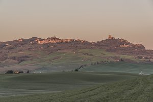 Medieval Towns of Tuscany at Sunset
