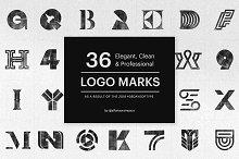 Bundle of 36 Professional Logo Marks