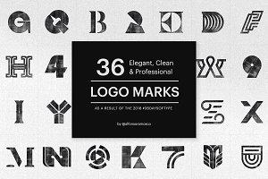 Bundle of 36 Professional Logo Marks