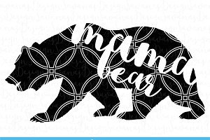 Mama Bear Cut Files and Clipart