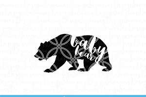 Baby Bear SVG Cut Files and Clipart