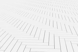 White timber wood slats floor. Pattern background, 3d illustration