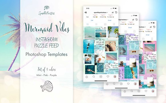 Mermaid Vibes Instagram Puzzle Feed