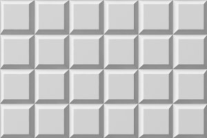 White tile flooring, seamless texture pattern background, 3d illustration