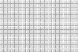 White tile flooring, seamless texture background, 3d illustration