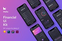 Malta Financial IOS app UI Kit by  in Websites