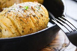 Homemade baked potato