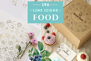 Food & Drinks Icons Set Vol.2
