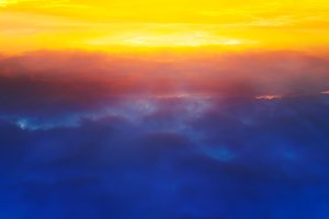 High altitude clouds background