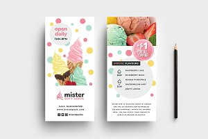 Ice Cream Shop DL Card Template