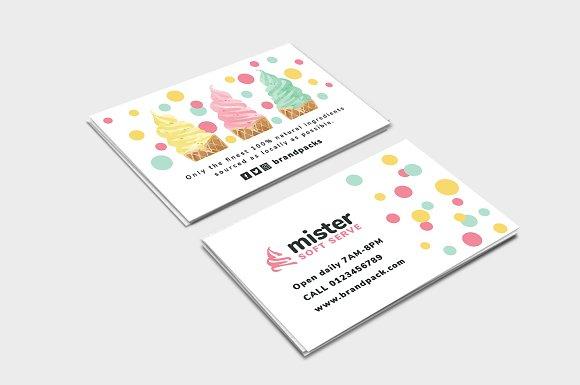 ice cream shop business card business card templates creative market