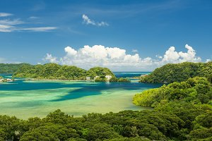 Koror Island and Pacific ocean
