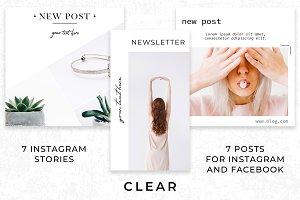 Instagram set - CLEAR - 14 templates