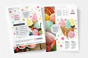 A4 Ice Cream Shop Poster Template