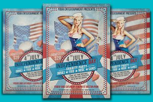 4th July Flyer & Ticket Template