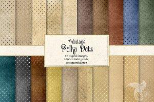 Vintage Polka Dots Digital Paper