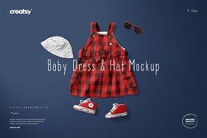 Baby Dress 7 & Hat Mockup Set