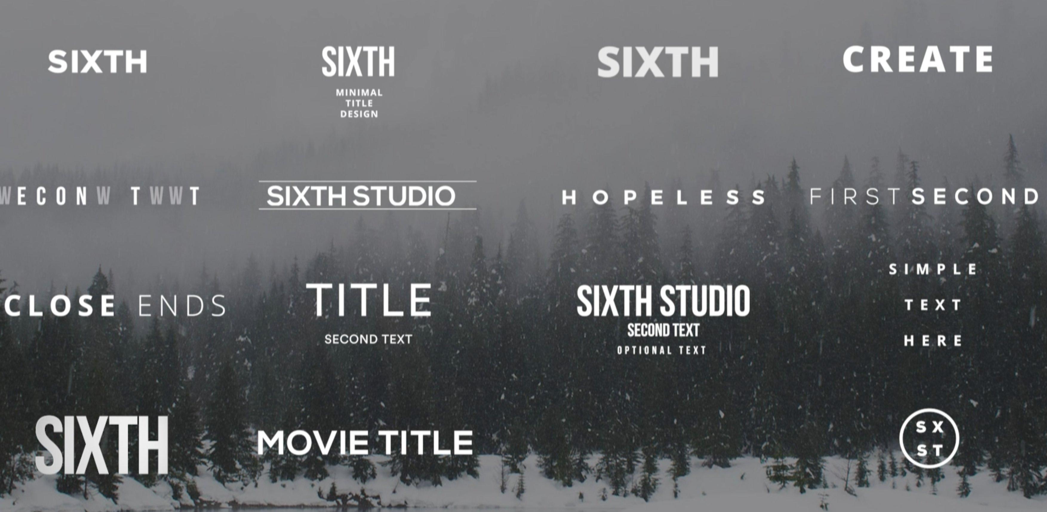 Minimalist Titles For Premiere Pro